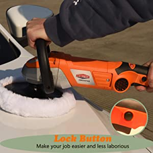 Dobetter Car Buffer Polisher, 7 Orbital Polisher Machine for Car Waxer/Buffer -DBDAP58 (Color: Orange)