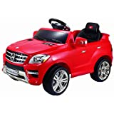 Costzon Mercedes Benz ML350 6V Electric Kids Ride On Car Licensed MP3 RC Remote Control (Color: Red, Tamaño: 37.4