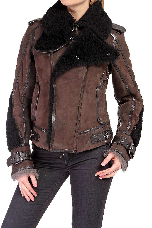 Belstaff Black Label Damen Jacke Blouson Lederjacke LERRYN THROAT LATCH MOTO BLOUSON, Farbe: Braun jetzt bestellen