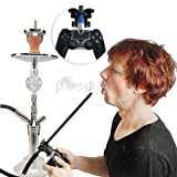 High Quality | Shisha Pipes & Accessories | Hookah Smoke Play Hose Holder PS4 Slim Pro Game Controller for Shisha Aluminum Handle Chicha Narguile Christmas Gift | by GADEMATA | 1 PCs
