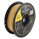HATCHBOX PLA 3D Printer Filament, Dimensional Accuracy +/- 0.03 mm, 1 kg Spool, 1.75 mm, Gold (Color: gold)