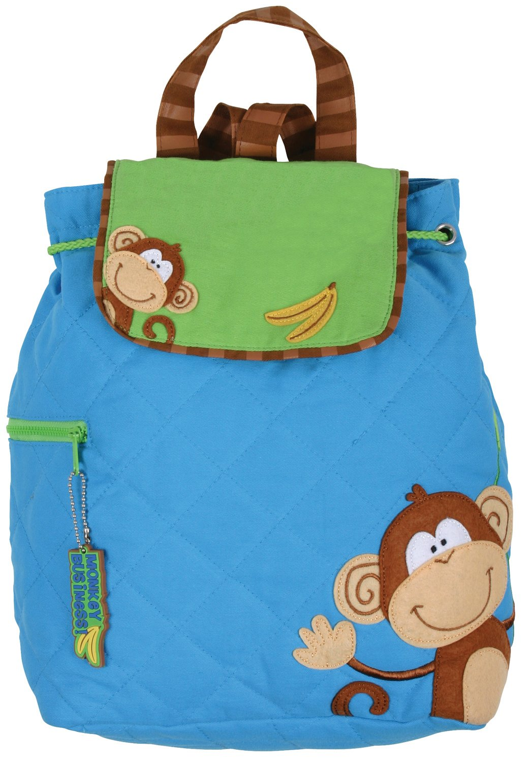 Stephen Joseph Monkey Quilted Backpack Monkey