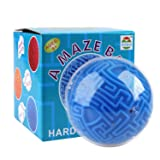 Holody 3D Magic Maze Puzzle Ball Cube Game Globe Sphere Bulk Labyrinth Toys Brain Teaser Game Learning Education Puzzle Toys Gifts (Hard Difficulty)