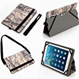 Unversal 10.1 Inch (10co) Tablet Case Fits Asus Transformer Pad Tf701t, Tf101, Nfinity 700 (Tf700kl), Tf300tg 10.1 (Camouflage Camo Flag Realtree Mossy Oak Hunting)