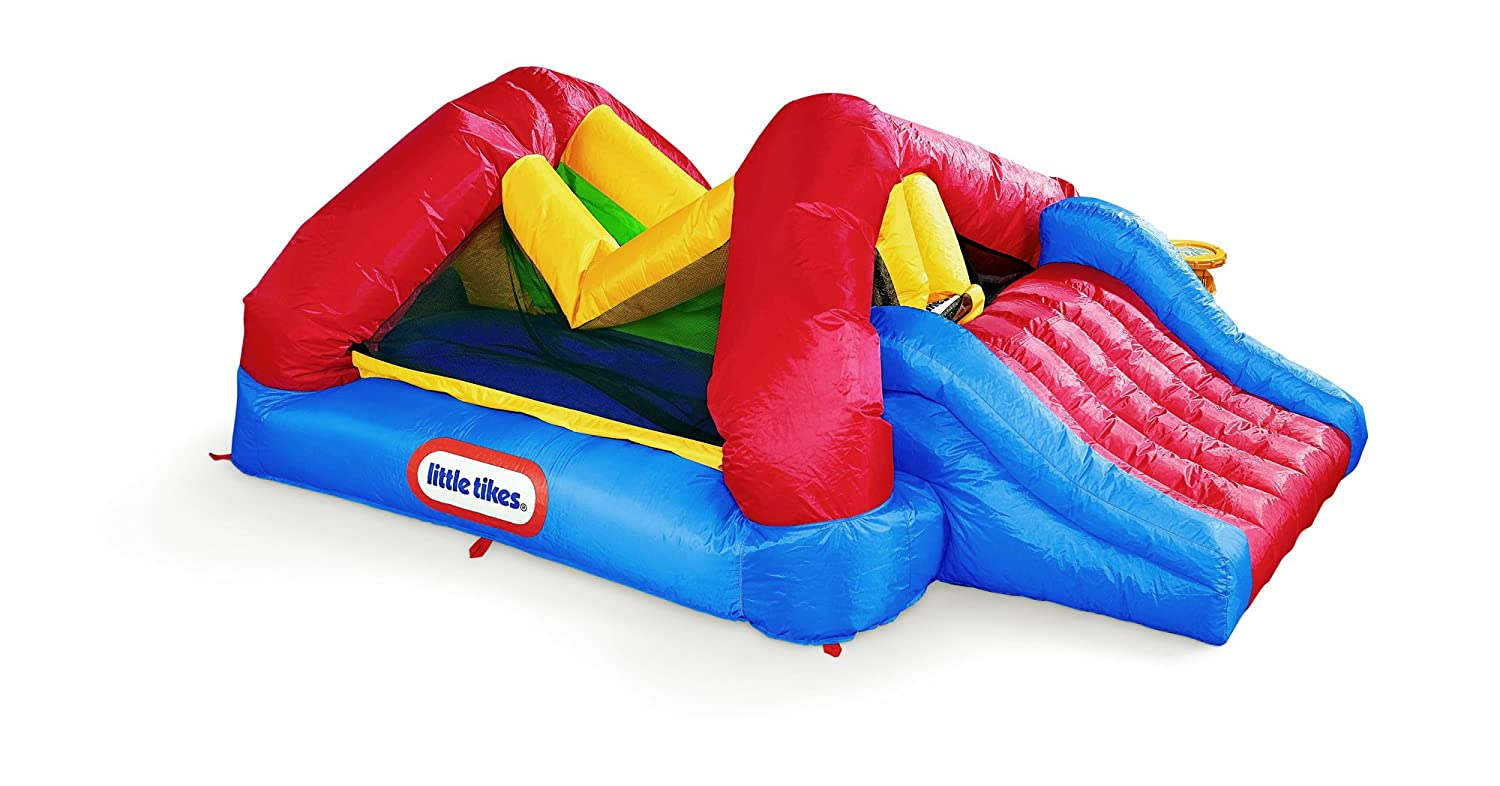 An Image of Little Tikes Shady Jump N Slide Bouncer