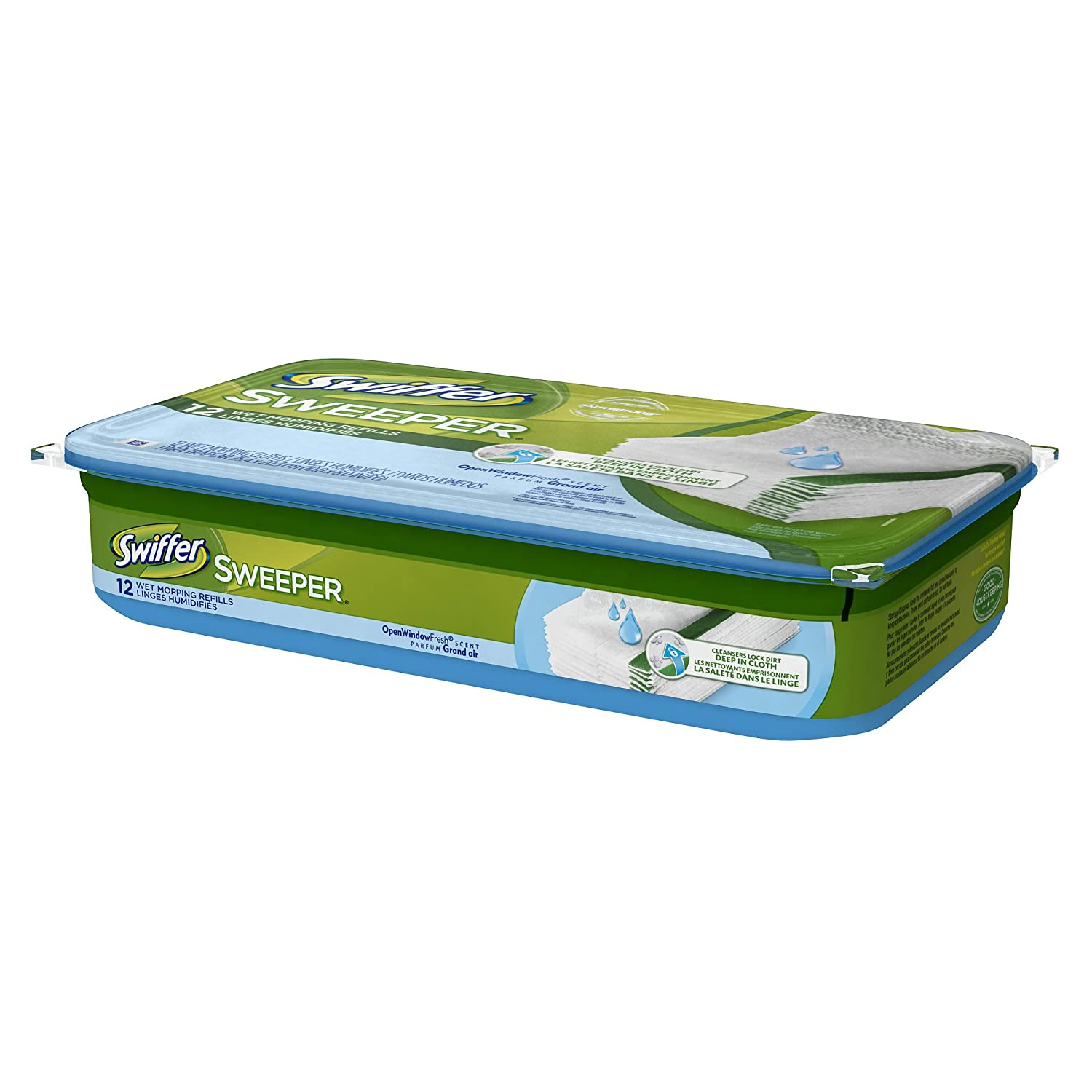 swiffer sweeper wet mopping cloths are designed with a unique cleaning solution that works to dissolve tough spots dirt and grime and pull it deep into the - Swiffer Mop