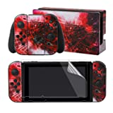 eXtremeRate Multiplicity Galaxy Print Decals Stickers Full Set Faceplate Skins +2Pcs Screen Protector for Nintendo Switch/NS Console & Joy-con Controller & Dock Protection Kit (Color: Multiplicity Galaxy)