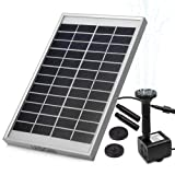 LEDGLE 5W Solar Fountain Pump Garden Water Pump for Courtyard, Maximum Flow 380L/h (Color: 5W, Tamaño: 5W-Flat)
