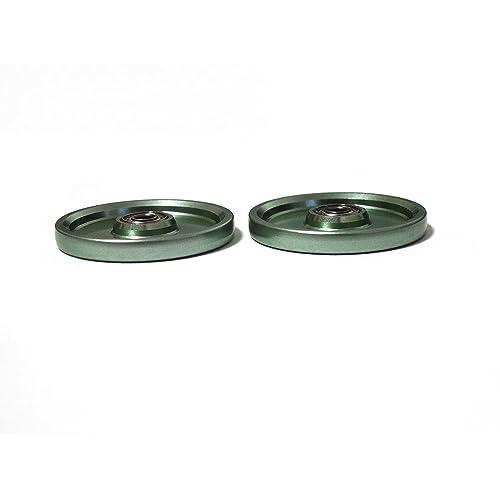 【ノーブランド品】HG 19mmオールアルミベアリングローラー アルマイト加工 15464 グリーン
