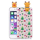 IPhone 6/6s Case, Transer 3D Cute Christmas Cartoon Soft Silicone Case Skin For IPhone 6/6s 4.7 Inch (F) (Color: F, Tamaño: M)