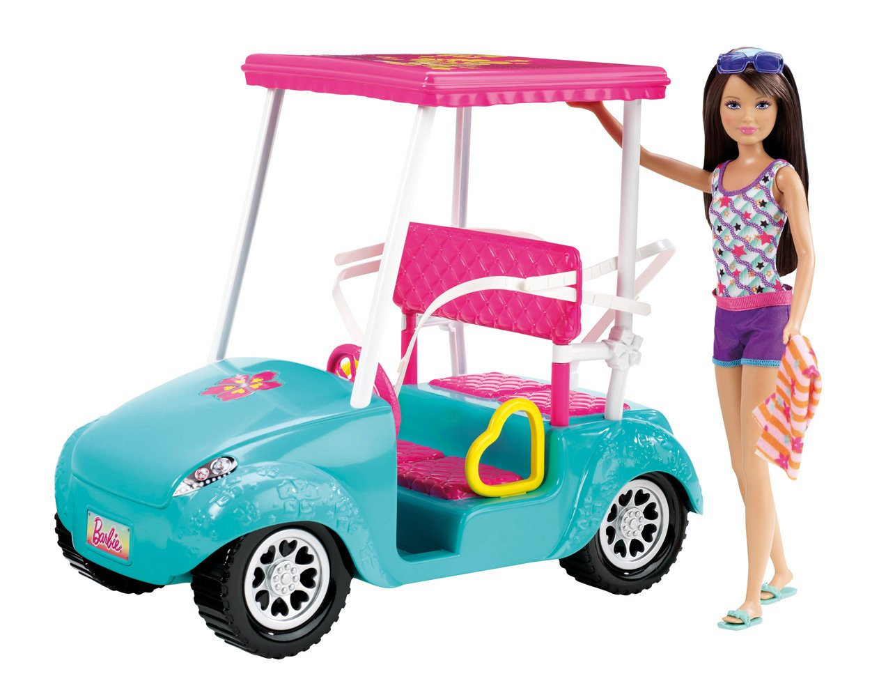 Barbie Sisters Golf Cart and Skipper Doll Set