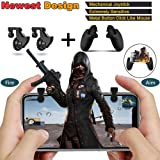 Newest Design Mechanical Mobile Game Controller Set for PUBG/Knives Out/Rules of Survival,Raise 89% Win Rate, Sensitive Shoot and Aim Buttons L1R1 And Mobile Joystick for Android&IOS(1 Pair+Joystick)