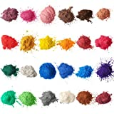 Mica Powder for Soap Making [ 24 Color 10g/0.35oz Each ] Cosmetic Grade Resin Pigment Powder for Slime, Bath Bombs Colorant, Epoxy Pigment, Soap Dye, Makeup Pigment - Non Toxic