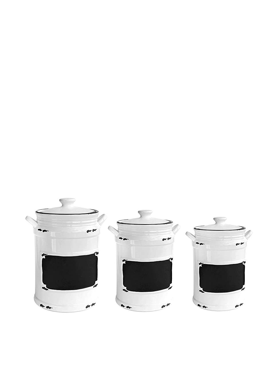 American Atelier 3 Piece Vintage Canister Set, Black 0