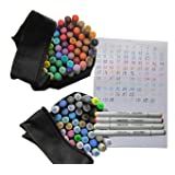 Assorted 111-color Finecolour Sketch Twin Marker Set Alcohol Based Ink, Double Ended, Good Quality but Cheap Junior Marker Pens Pack