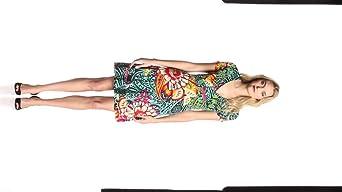 Desigual Damen Kleid VEST_BLOU, Gr. 34/XS (Herstellergröße: S), Schwarz (Negro)