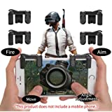 PUBG Mobile Game Controller Autra Fire Button and Aim Key Joystick Shooter control Gaming Gun Trigger for Rules of Survival, Sensitive Shoot for iPhone,Sumsung Galaxy,Android,IOS (2 Pair) (Tamaño: 2 Pair)