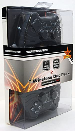 2-pack Thrustmaster PS3 or PC Wireless Bluetooth Small Video Game Controllers BLACK