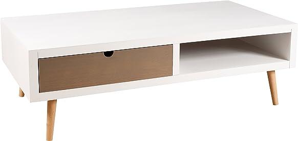 Nomadi Design 705007Tavolino con 2cassetti Pin/MDF 60x 120x 38cm