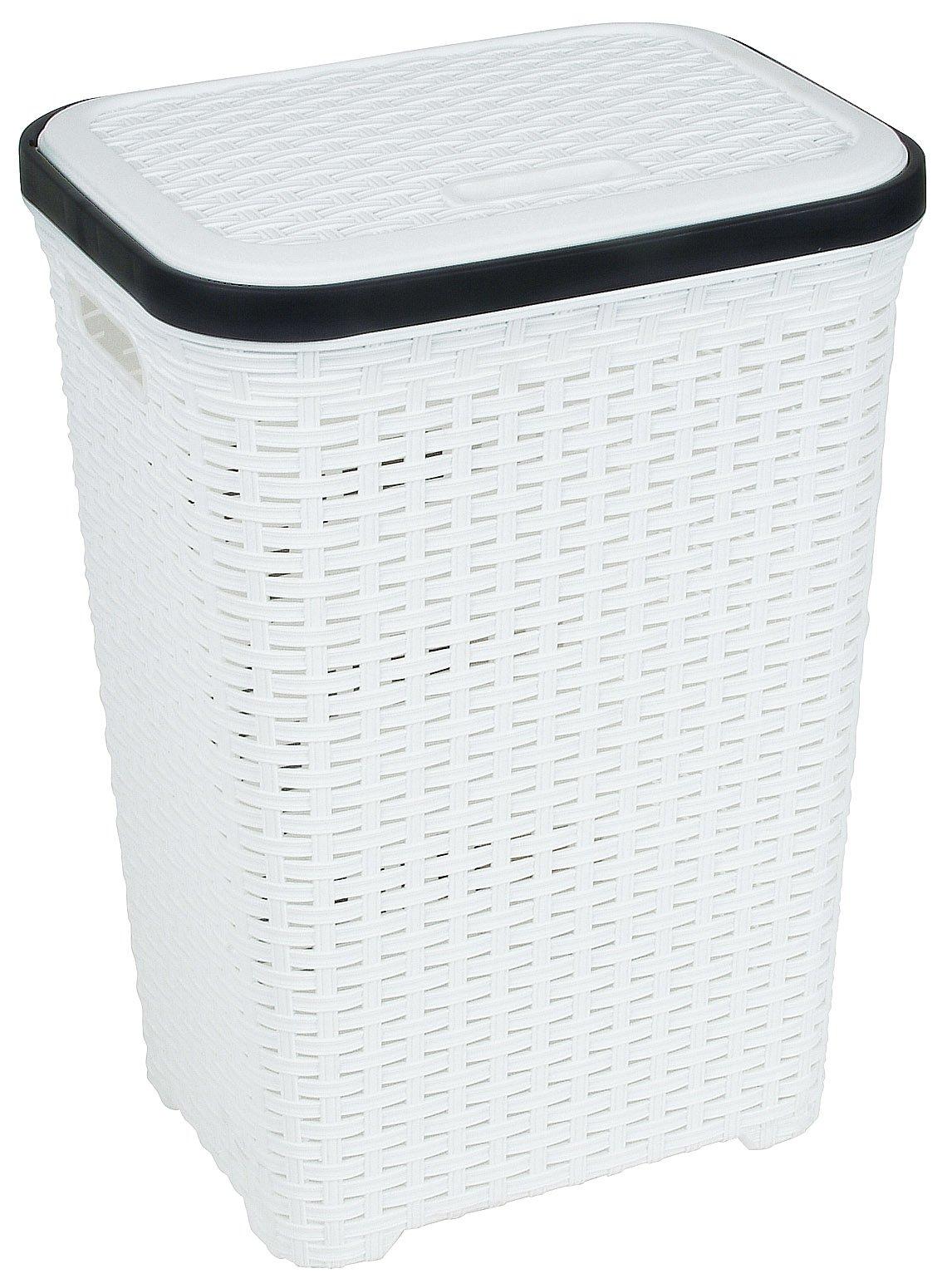 Rattan Wicker Style 1 7 Bushel Laundry Hamper White