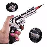 FengFang Windproof Lighter Revolver Metal Model can be fire Size Adjustment Reuse Inflatable Butane Cigar Torch (608#)
