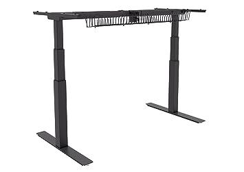 Bureau électrique assis-debout, armature uniquement, en noir ou blanc, double moteur et silencieux (table de bureau non comprise) noir