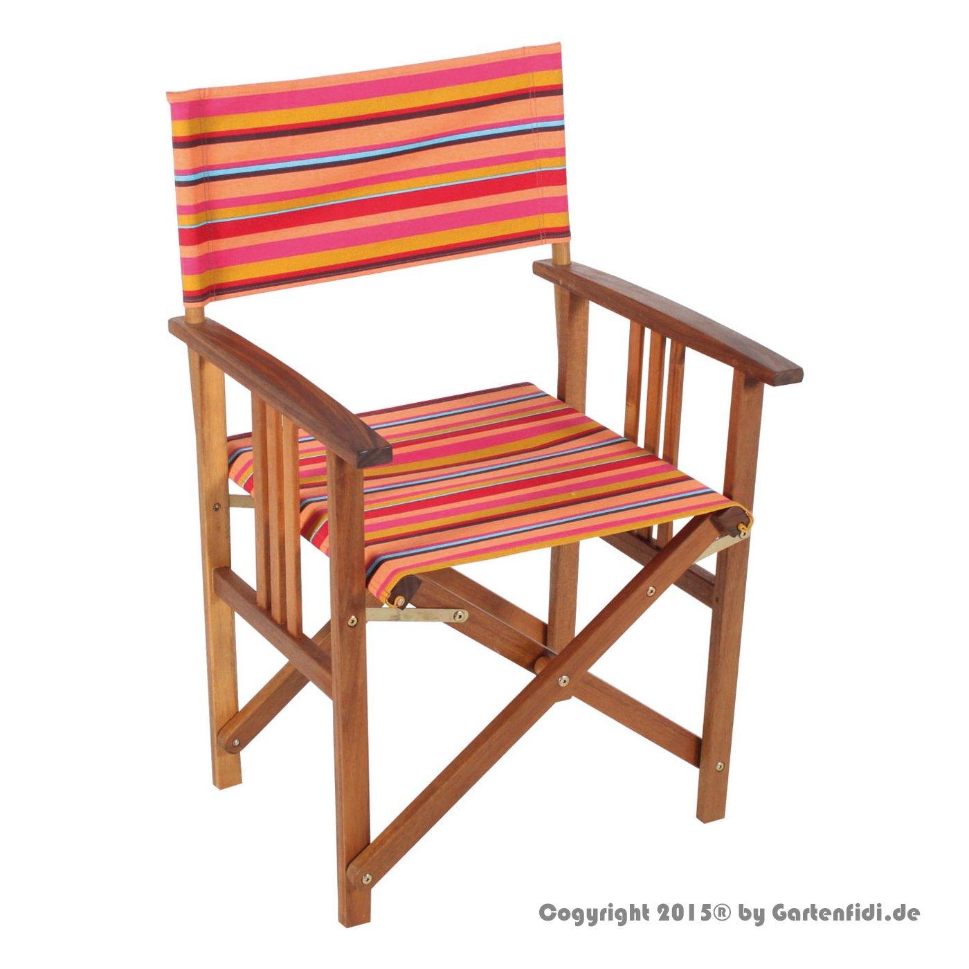 Regie-Stuhl Akazie mit Polyester FSC 100 kaufen