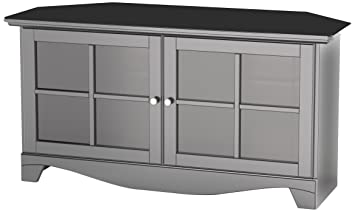Nexera 102506 Pinnacle Corner TV Stand, 49-Inch, Black