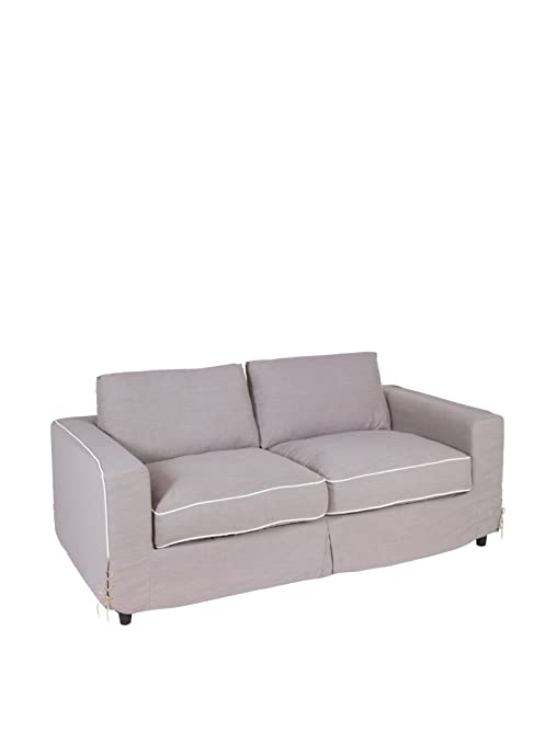 Sofa stoff 2-sitzer braun
