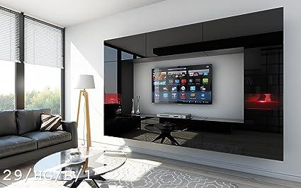 FUTURE 29 Moderno Conjunto De Muebles De Salón, Módulo Bajo Para TV Y Multimedia, Exclusiva Unidad De Entretenimiento, Mueble TV, Suite A Estrenar, Gran Variedad De Colores (Iluminación RGB LED Opcional) (29_HG_B_1, Mueble)
