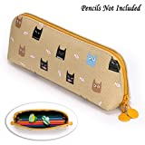 BTSKY Pencil New Cute Multifunction Pen Pencil Case Holder (Khaki)