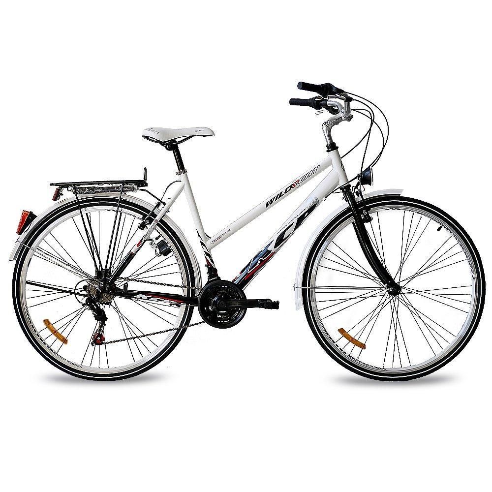 Bicicleta urbana de paseo con trasportín trasero KCP