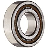 SKF NJ 205 ECP/C3 Cylindrical Roller Bearing, Single Row, Removable Inner Ring, Flanged, Straight Bore, High Capacity, C3 Clearance, Polyamide/Nylon Cage, Metric, 25mm Bore, 52mm OD, 15mm Width