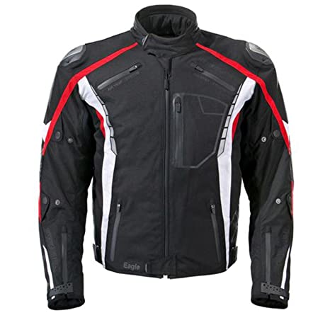 GERMOT eAGLE veste en tissu-noir/rouge