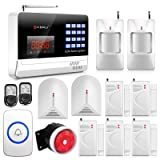 KERUI Black Color N6120G 120 Zones Wireless Home / School Alarm Systems Security Auto Dialing Dialer + 2PCS Wired Glass Break Sensor Detector + Wireless Panic Button