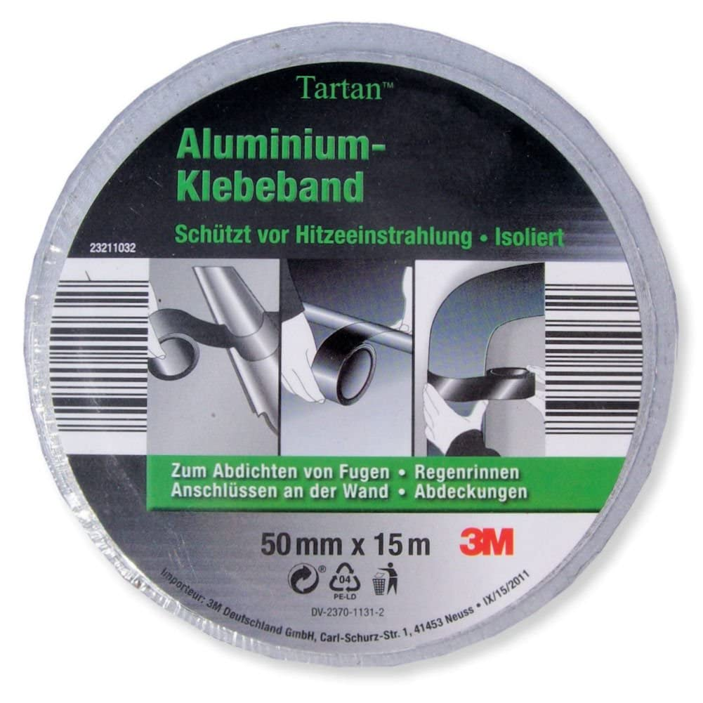 3m tartan aluminium klebeband 3m aluband aluminium isolierband neu ovp ebay. Black Bedroom Furniture Sets. Home Design Ideas