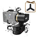 FeiyuTech WG2 Updated Waterproof Wearable Action Camera Gimbal for GoPro Hero 6 5 4 Session, AEE, SJCam, YI 4K and Similar Dementions, Come with Carrying Case and Tripod, APP Control (Tamaño: No Remote)