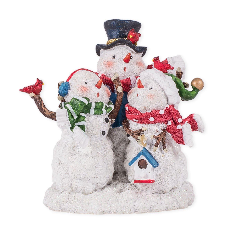 Frosty the Snowman Musical Snowman Family Choir Resin Stoneware Christmas Figurine