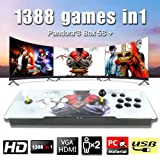 MOPHOTO 1388 Arcade Games Console- Pandoras Box 5s Arcade Video Game Console Arcade Game Machine for 2 Players with Double Joystick Support HDMI VGA Output (Color: White, Tamaño: 1388 Games)