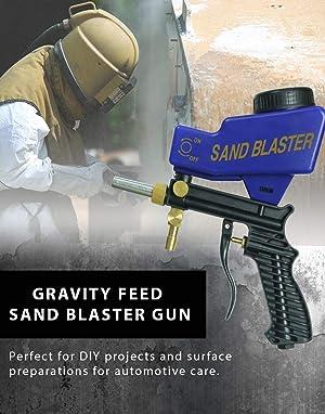 Improved Sandblaster Sand Blaster Gun Kit, Soda Blaster
