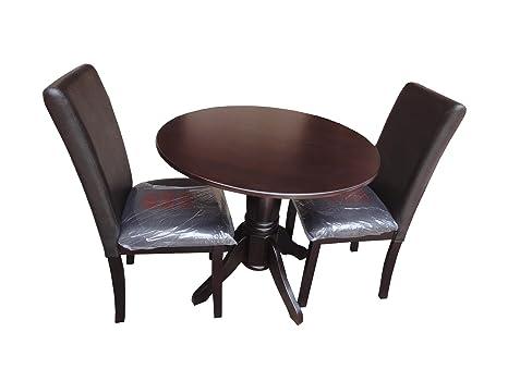 ACME 70630 Allie 3-Piece Dining Table Set, Dark Cherry Finish