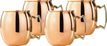 Set-of-4 16-Oz Solid Copper Moscow Mule Mug
