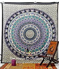 Hippie Elephant Tapestries, Large Siz…