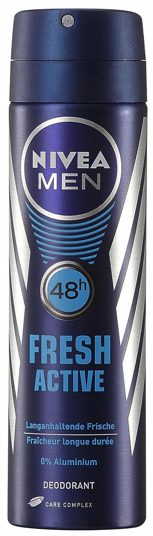 Nivea Men Fresh Active Deo Spray, aluminiumfrei,