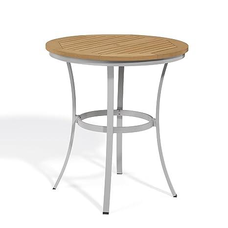 Oxford Garden Travira Cafe Bar Table Tekwood, 36-Inch, Natural