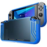 Mumba case for Nintendo Switch, [Slimfit Series] Premium Slim Clear Hybrid Protective Case for Nintendo Switch 2017 release (Blue) (Color: Blue)