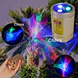 Mini Outdoor Laser Projector, Chims RGB Aurora Handheld Portable Cordless Sound Activated Lights for Xmas Garden Patio Landscape Camping Yard Indoor Disco Dance DJ Party Christmas Birthday Gift (Color: Red Green Blue, Tamaño: Mini)