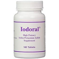 Optimox Iodoral High Potency Iodine Potassium Iodide Thyroid Support Supplement 180 tablets