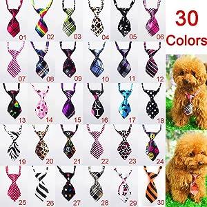 Bestag 30 Pcs/pack Cat Dog Bow Tie Collar - Pet Neckties (30 Pcs/pack) (Color: 30 Pcs/Pack, Tamaño: Free)