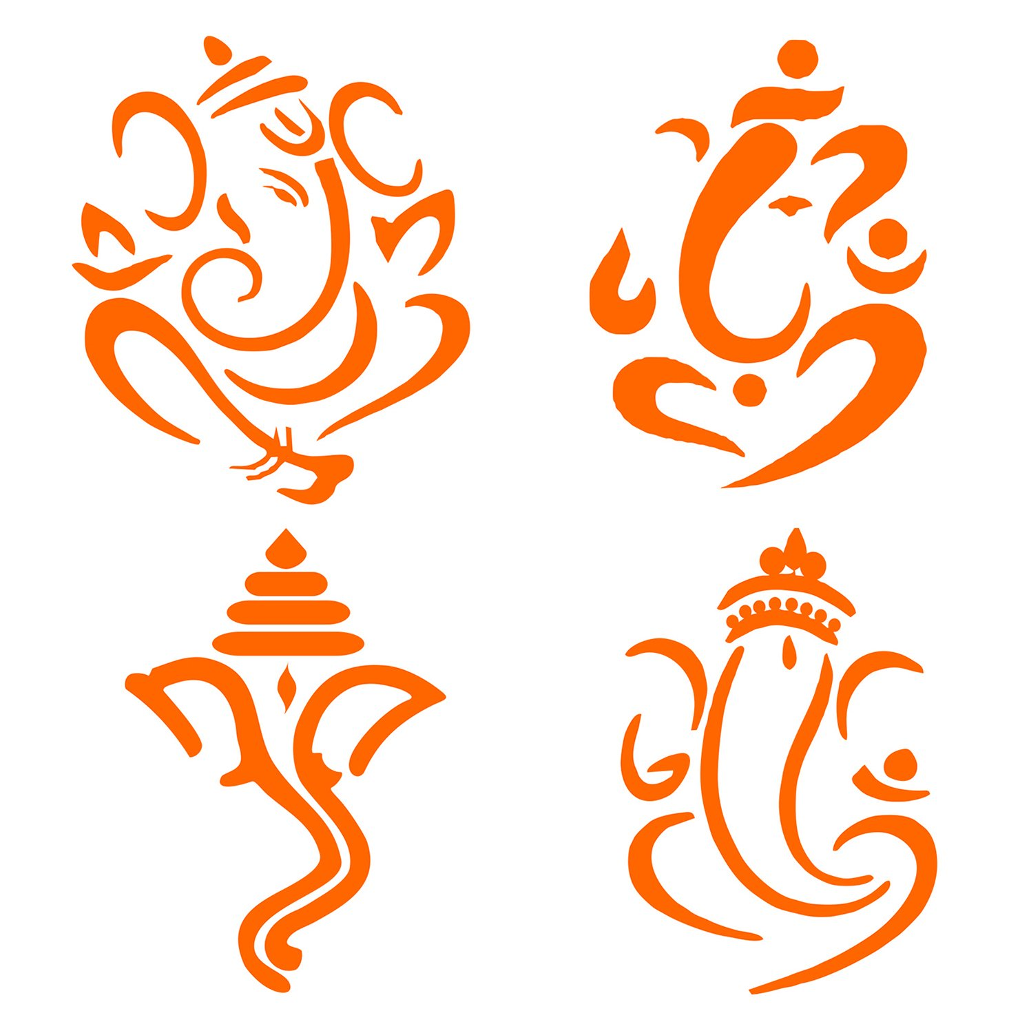 Bike sticker design images - Idesign Orange Lord Ganesh Sticker For Car Scooter And Bikes